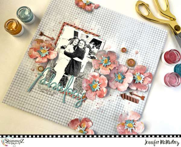 Floral Layout with Shimmerz Paints