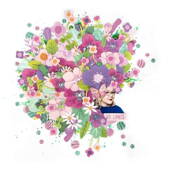 Portrait of Blooms Layout