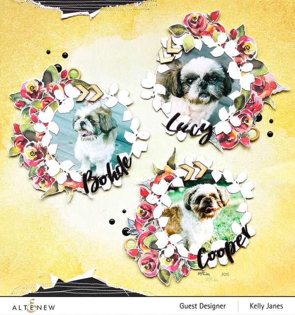 Floral Wreaths Pet Layout