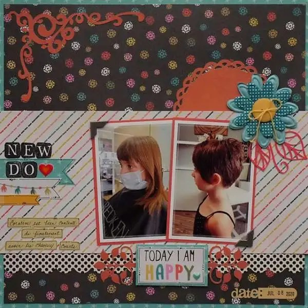 New Hair Do Layout – Scrap Booking