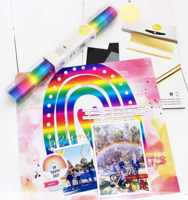 Foiled Rainbow Layout