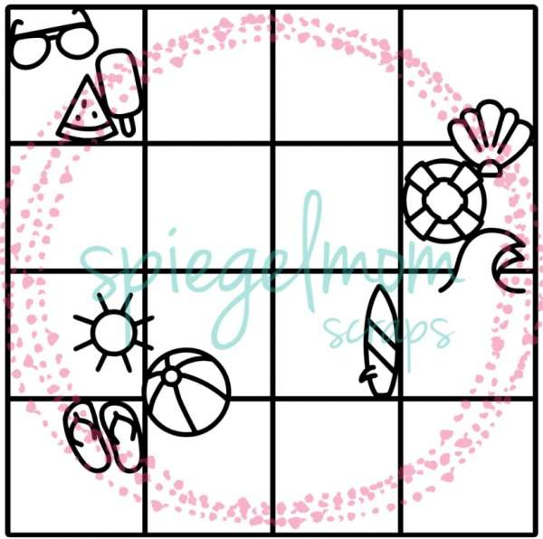 Summer Grid Cut File