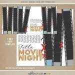 Movie Night Page Digital Template