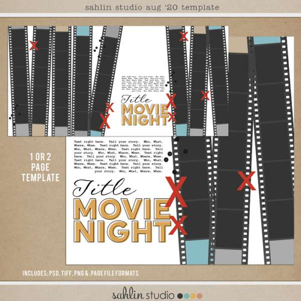Movie Night Page Digital Template