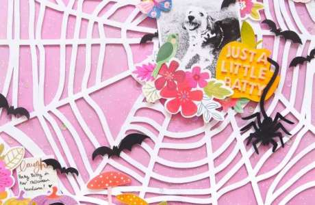 A Little Batty Halloween Layout