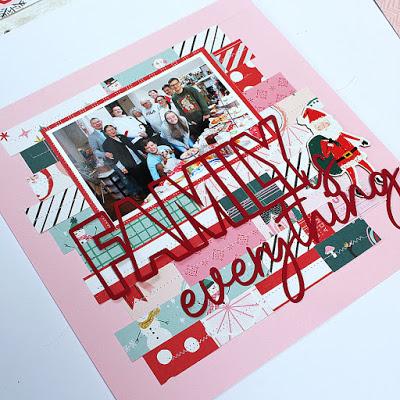 Stitched Blocks Holiday Background