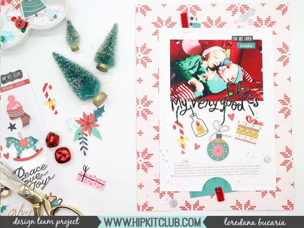 Cute Christmas Elves Layout