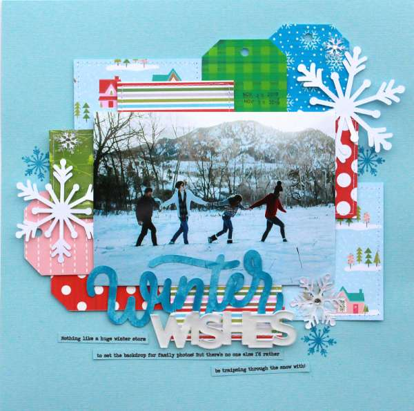 Winter Wishes Layout