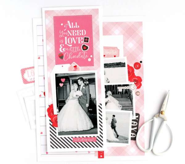 Love Story Layout and a 1/2
