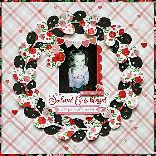 Valentine Wreath Layout