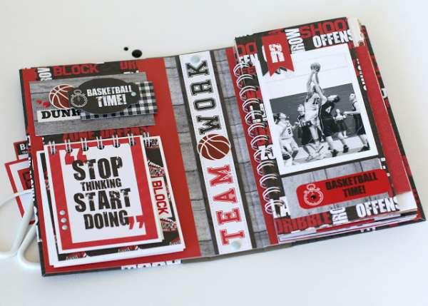 Basket Ball Layout and Mini Album