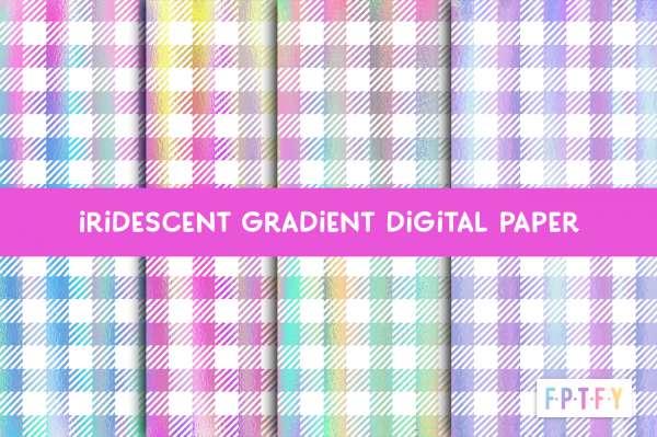Iridescent Plaid Paper