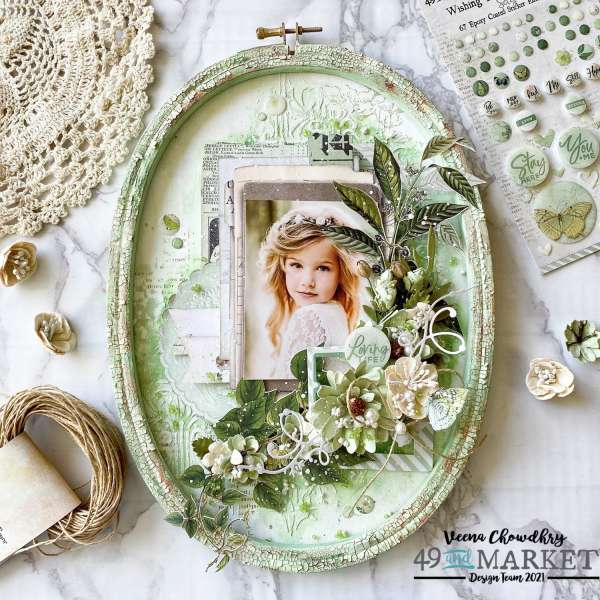Scrapbook Wall Art Hoop