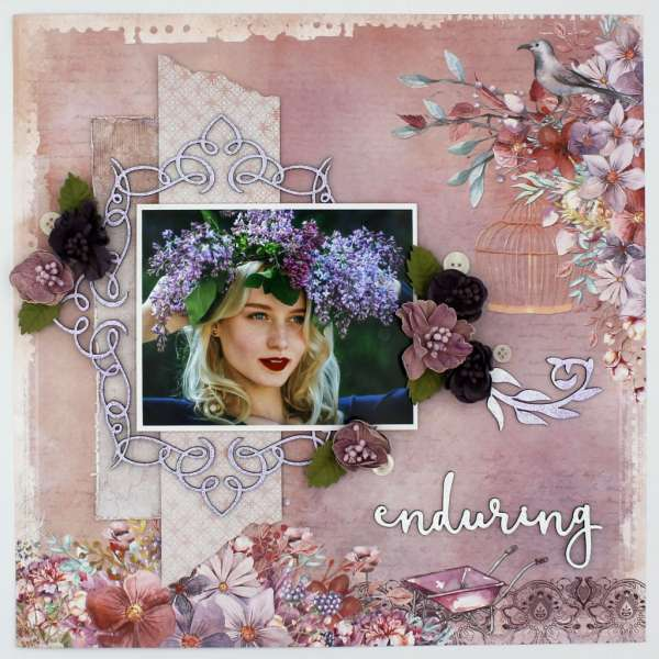 Purple Floral Spring Layout