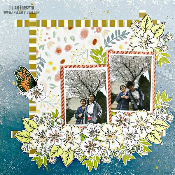 Tree Blossoms Layout