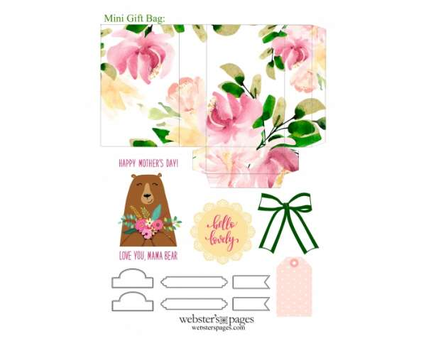 Mother's Day Gift Bag Printable