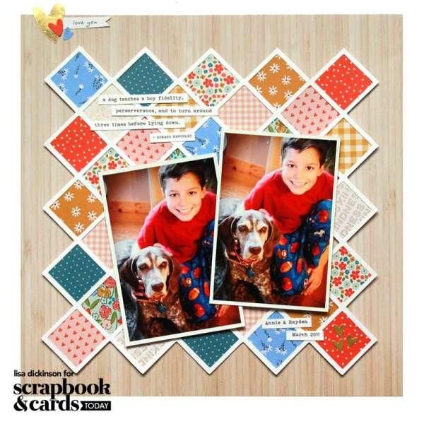 2 Patchwork Quilt Scrapbook Layouts