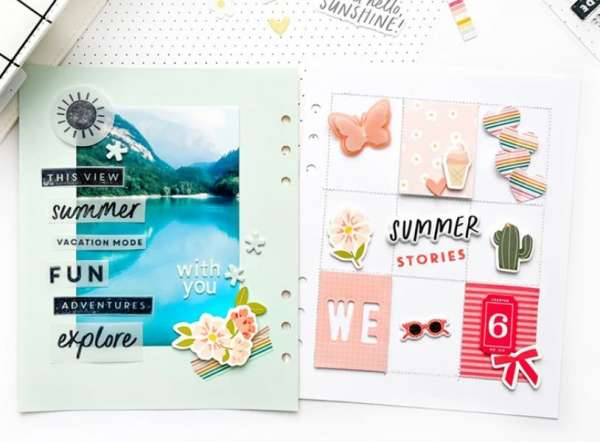 6 x 8 Summer Scrapbook Pages