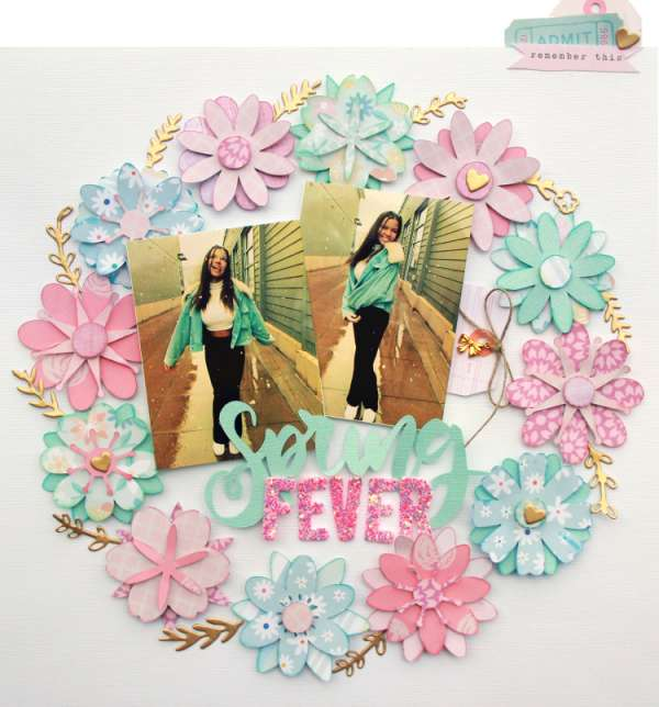Spring Fever Wreath Layout