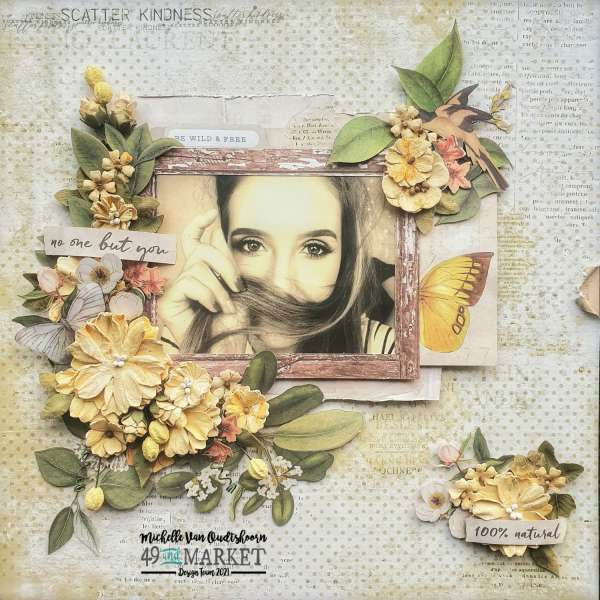 Yellow Floral Vintage Layout