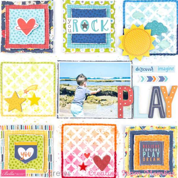 Baby on the Beach Grid Style Layout