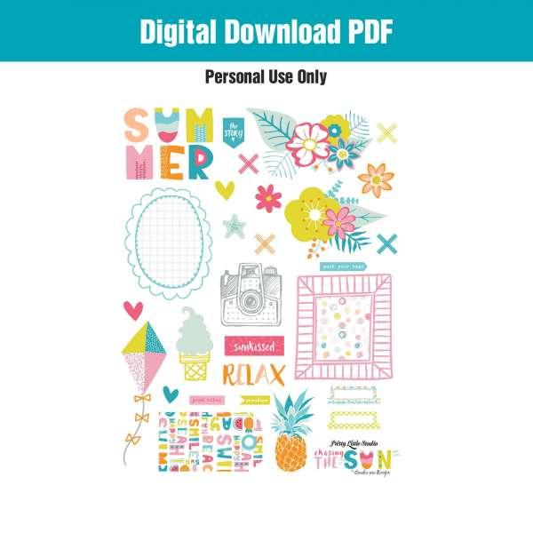 Summer Digital Image Freebies