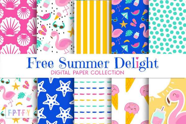 11 FREE Summer Pattern Papers