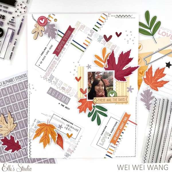 Fall Frames Scrapbook Layout
