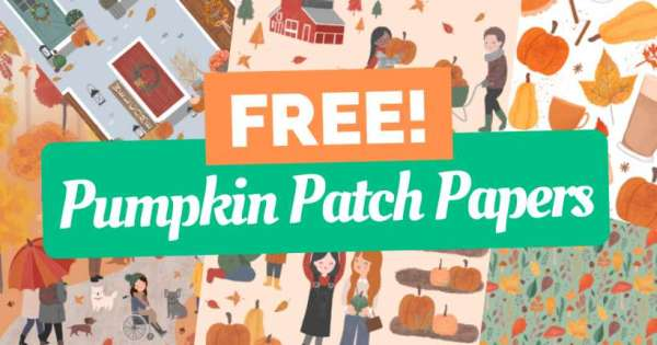 Free Pumpkin Patch Pattern Papers Download