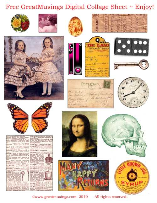 FREEBIES-Vintage-image-cds-digital-collage-sheets