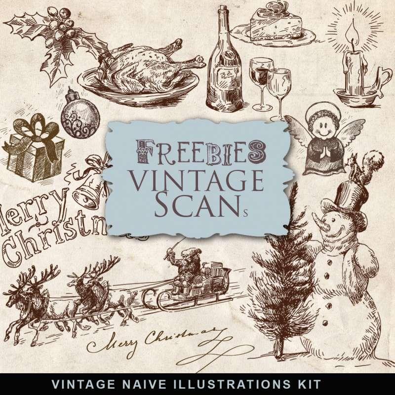 Freebies-Old-Naive-Christmas-Illustrations-500x500