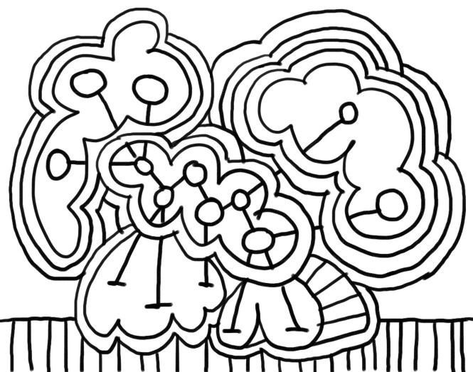 Drawing Converted To Coloring Page Example
