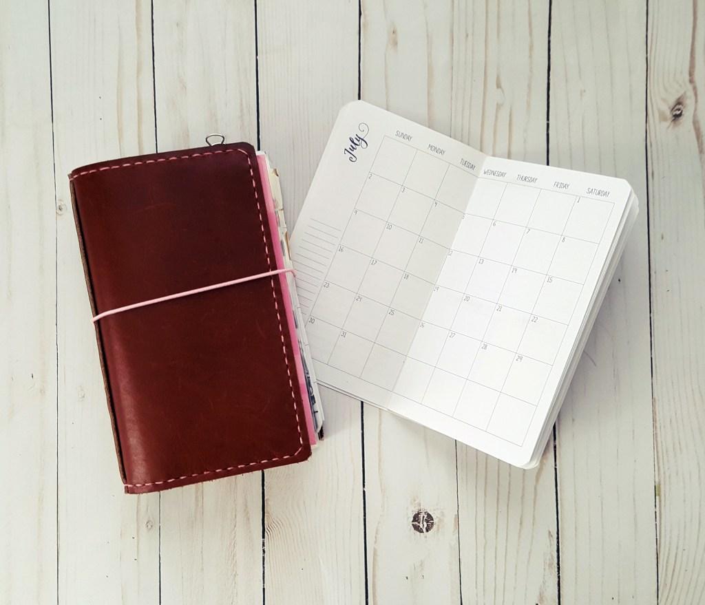 Jul-Sep 2017 Standard/Regular Traveler's Notebook Printable Planner Inserts