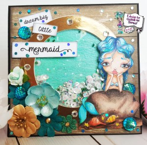 Dream Big Little Mermaid 5×5 Shaker Card – Oddball Art Co. Design Team Project