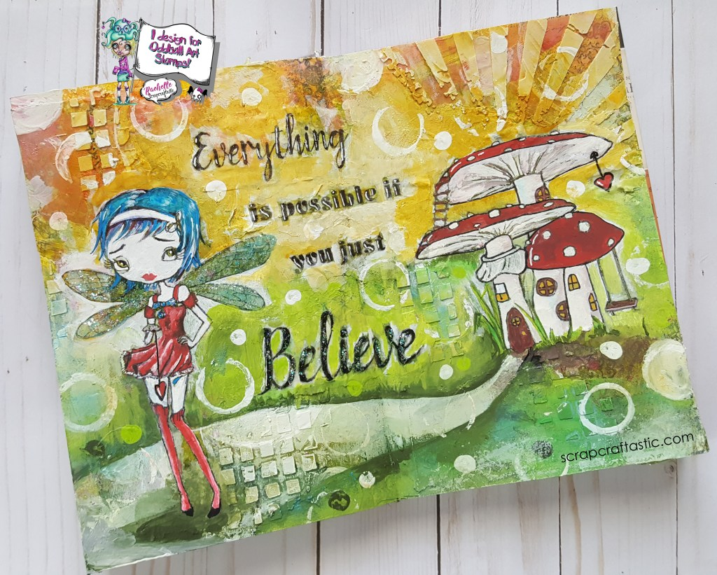 Oddball Design Team Project Share - Believe Fairy Art Journal Page | Scrapcraftastic