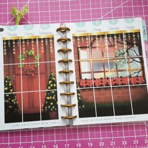 Christmas Door Weekly Planner Overlay