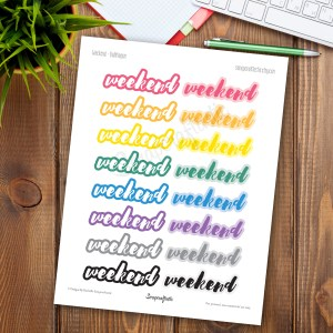 Bubble Gum Weekend Printable Planner Stickers