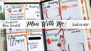 "Week 13-2017 / Plan With Me ""From Scratch"" Traveler's Notebook Standard Size"