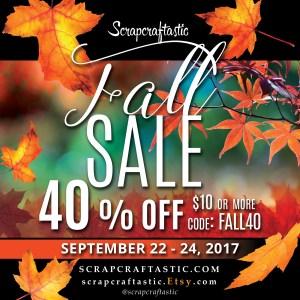Seasonal Sale at Scrapcraftastic!