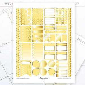 Banana & Gold Printable Planner Stickers for MAMBI Happy Planner