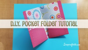 Pocket Folder Midori Style Traveler's Notebook Tutorial