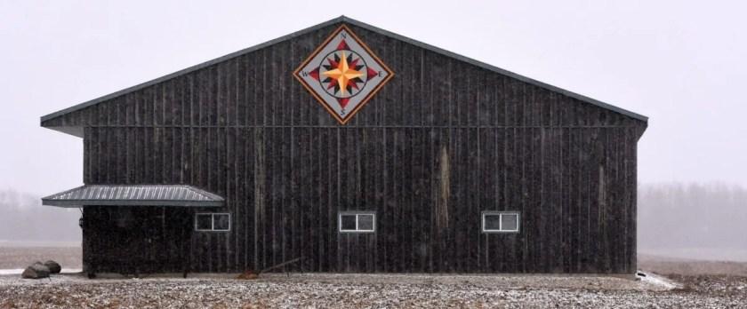 Quilt Block on Barn