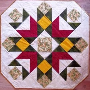 Quilted Round Table Toppers.Downloadable Quilt Patterns Scrapdash