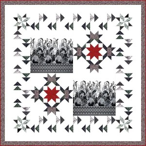 Strolling Geese Lap Quilt