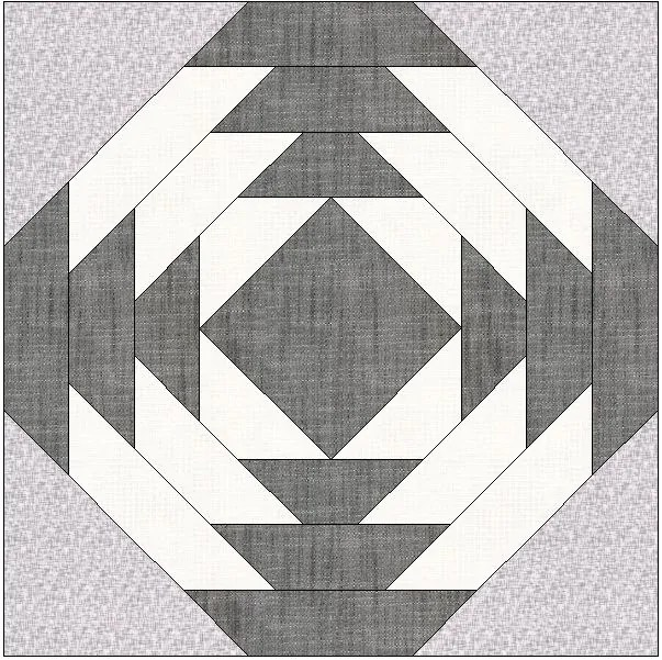 What's Black and White with a Red Binding? A Log Cabin Quilt