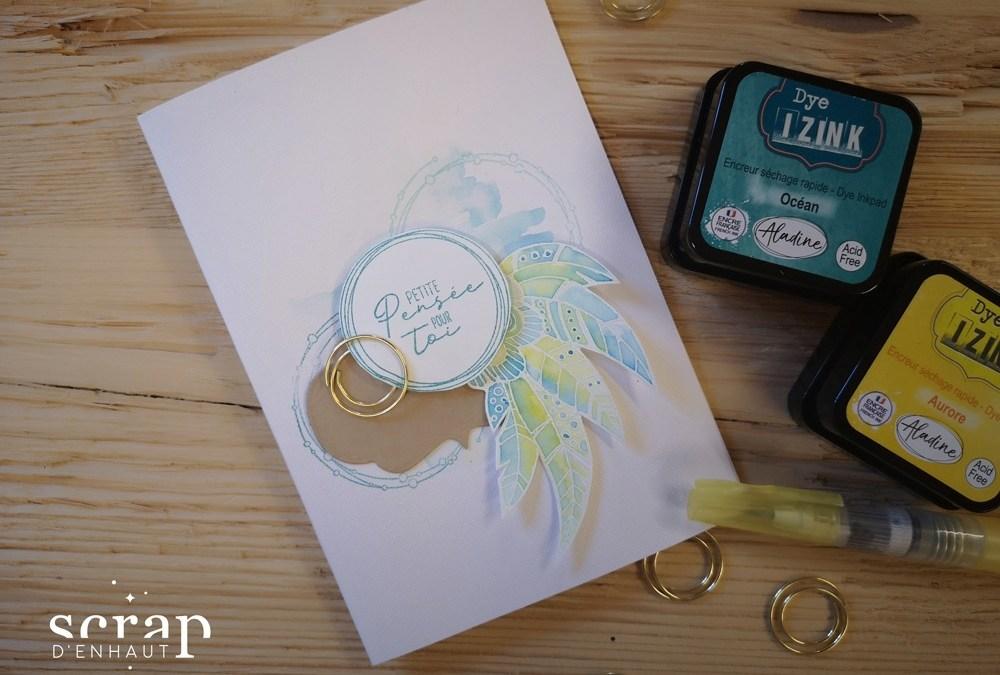 Effet d'aquarelle avec les encres Dye Izink