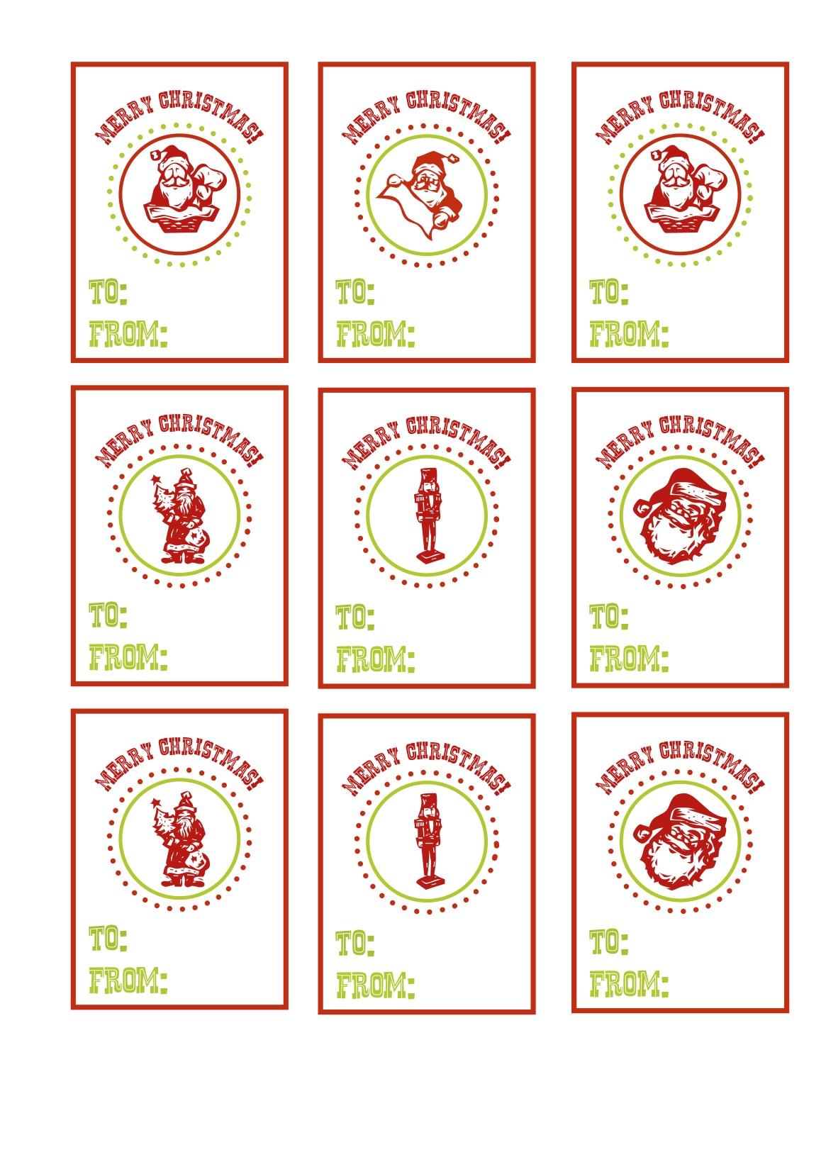 Christmas T Tags Printable Freebies