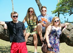 McGraw kids hanging out on a tree (yes, posed..LOL!)