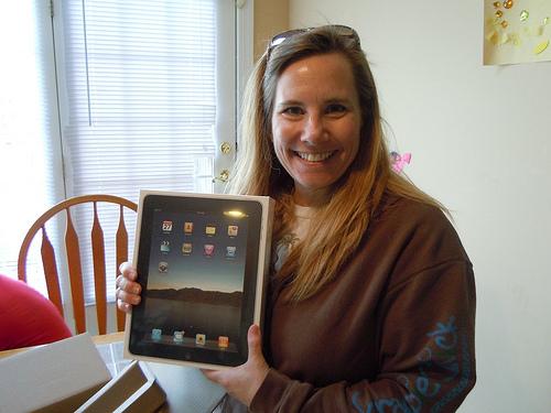 ScrappinMichele and iPad