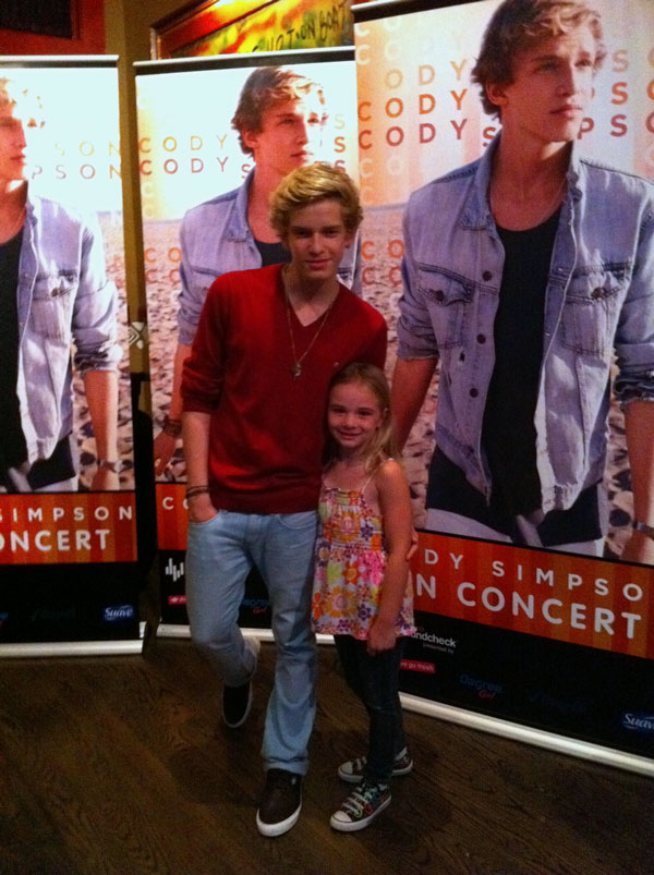 Cody simpson wal mart soundcheck contest trip was awesome megan cody simpson m4hsunfo